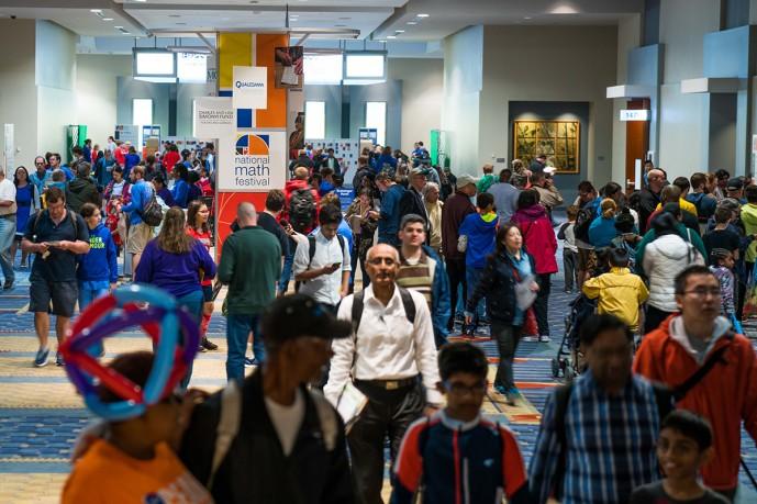 수학 축제에 모인 사람들 - National Math Festival 홈페이지 제공